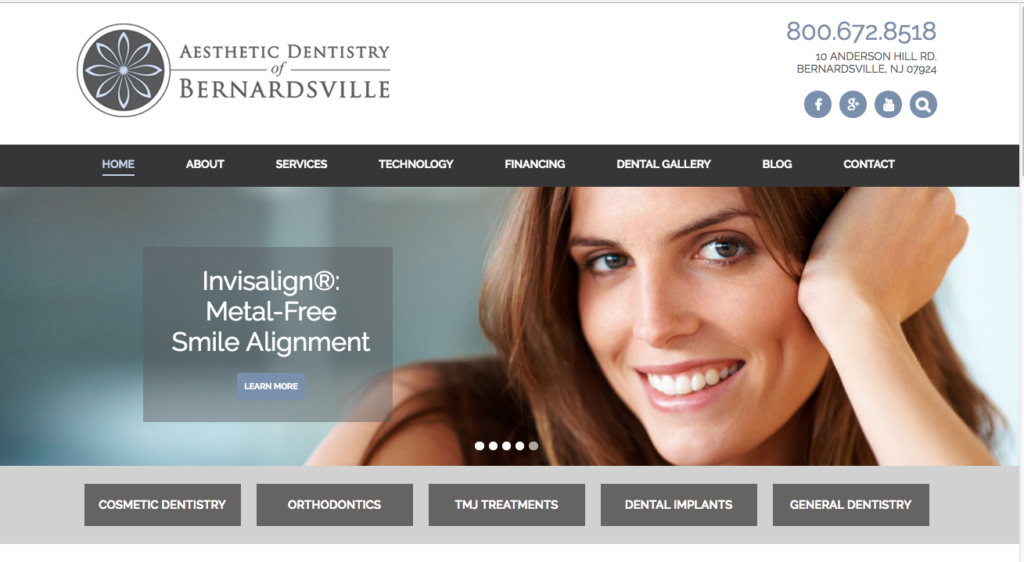 Dentist Web site, Responsive Design
